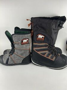 Sorel Intrepid Expedition Boot-in-Boot Ultra Winter Boots - Men's 11 - NICE!!