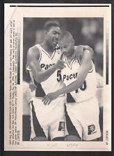 Sam Mitchell & Vern Fleming 1994 Vintage A/P Laser Wire Photo with caption