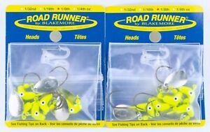 Original Classic Blakemore Road Runner Spinner Jig Head Lures 1/8 oz Chartreuse