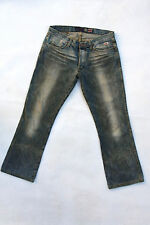 Roy ROGER'S Tom storico Jeans Bootcut Denim Blu Scolorito W33/47 Dirty Wash