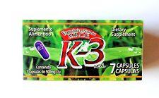 K-3 WEIGHT LOSS 7 CAPSULES/K-3 CAPSULAS HERBALES PARA PERDIDA DE PESO