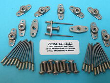 #8-32 Stainless Steel Anchor Nutplate + Install Kit (12) With Ss Screws + Rivets