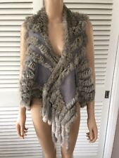 Grey Womens Rabbit Fur Gillet side pockets perfect condtion, super soft