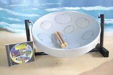 Silver Table-Top Steel Drum Jumbie Jam, with Free Dvd!