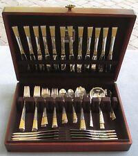68 Pcs Amazing Set for 12 Lunt Sterling Silver Golden Columbine Flatware w Chest