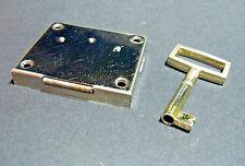 Möbelschloss + Schlüssel Schrankschloss Schubladenschloss Aufschraubschloss