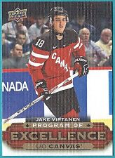 2015-16 Upper Deck Canvas Program of Excellence card# C261 of Jake Virtanen