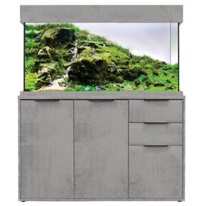 Aqua One Oak Style Industrial Concrete Aquarium Fish Tank & Cabinet 116cm 230L