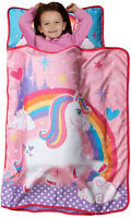 Preschool Nap Mat Toddler Girl Sleeping Bag Roll Up Napping Blanket Kids Rainbow