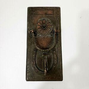 """Antique Vintage Copper Cowboy Western Spur Door Knocker Unusual Rare  9.5""""x4.5"""""""