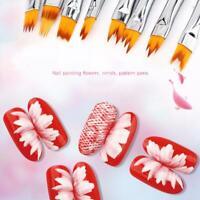 8Pcs/Set Acrylic Nail Art Brush Sable Gel UV Nail Painting Flower Drawing Pen N
