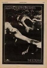 Siouxsie Banshees The Scream UK '45 Advert 1978 #2 EFGH