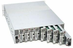 SuperMicro 3U 8 Node LFF Microcloud Server X10SRD-F 5038MR-H8TRF 8x 10GB SFP+
