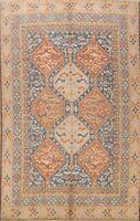 Vegetable Dye Khotan Geometric Oriental Area Rug Hand-Knotted Wool Carpet 9x10