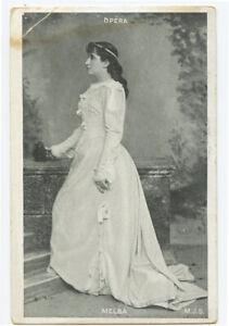 c 1905 Opera Singer Victor Records NELLIE MELBA photo postcard