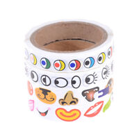 Eye/Nose/Mouth Self-adhesive Paper Stickers Roll Children DIY Craft Materials BA