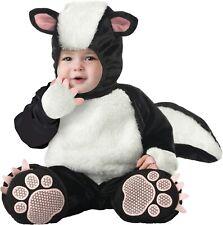 Lil Stinker Infant Baby Halloween Costume Hood BOOTIES Jumpsuit 0-6 Months Skunk