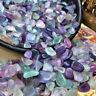 50g Natural Fluorite Quartz Crystal Healing Stone Specimen Gravel Tumbled Reiki