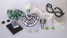 Littlest Pet Shop LPS 12 PC Clothes NERD Accessories Custom Skirts Bow Glasses