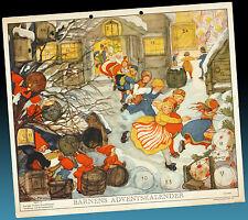 Vecchio Calendario Avvento 1945 Aina Stenberg > Fissa con Gnomi Trachten &