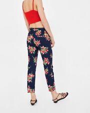 BNWT Zara Floral Print Trousers Size 8