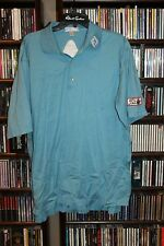 Peter Millar Titleist Footjoy Golf Polo Shirt Aqua Green  L   (bin77)