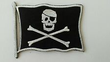 JOLLY ROGER PIRATE FLAG MOTORCYCLE BIKER LEATHER JACKET VEST HAT HOODIE PATCH