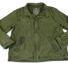 Mens American Eagle Outfitters army green distressed military jacket size 2XL