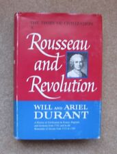 ROUSSEAU AND REVOLUTION,  Will and Ariel DURANT, 1967, 2nd Printing, HCDJ