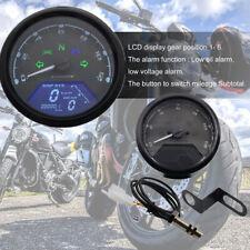 Motobike Digital Speed Meter Odometer Tachometer Gauge LCD Screen 1-4 Cylinders