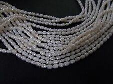 75pcs 4mm - 5mm FRESHWATER PEARL Rice Beads - IVORY (loose)