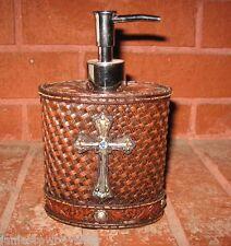 Western Lotion Bottle Cross W/Blue Stone Western Home Office Bathroom Decor 7X4