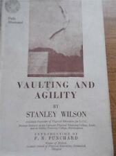 Vtg 1948 Book VAULTING & AGILITY Illustrated Real B/W Photos Gymnastics with DJ