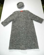 Vintage Womens Sweater Coat Wool Gray Small Medium