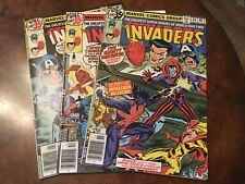 Lot of 3 Marvel The Invaders #34 35 36 comic books bronze age