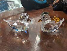 Swarovski Crystal Figurines Mandarin Ducks Color Beautiful with small damage