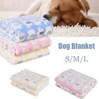 Pet Cat Dog Bed Mattress Puppy Winter Kennel Fleece Fluffy Blanket Sleeping Mat