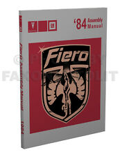 1984 Pontiac Fiero Factory Assembly Manual Se 84 helpful for 1985 and later (Fits: Pontiac Fiero)