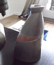 MODERNIST SCULPTOR JON MICHAEL ROUTE METAL vase?  SIGNED 1991