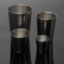Cup Mug Drinking Unbreakable Pint Coffee Tea Beer Stainless Steel Juice Water