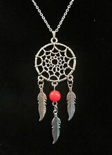 """NEW 18"""" Inch 925 Sterling Silver Dream Catcher Pendant Necklace Color Beads"""