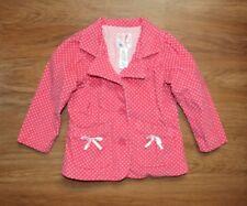 Old Navy Velvet Pink Polka dot Button Up Jacket Blazer Toddler Sz 3T Fall Euc