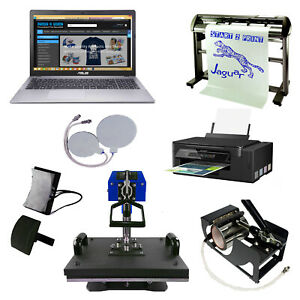 5 in 1 Heat Press Business Package Sublimation Printer Vinyl Cutter withTraining
