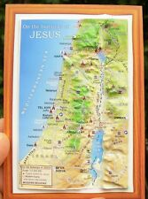 The Holy Land 3-D MAP MAGNET - Footsteps of Jesus Christ, Bible Christian Sites