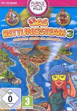 PC CD-ROM + Das Rettungsteam 3 + Rasantes Gegen die Zeit Spiel + Win 8