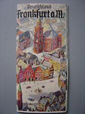Ancien dépliant touristique  Francfort sur le Main Frankfurt am Main  Zeppelin