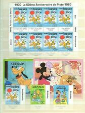 LOT OF DISNEY AND MISCELLANEOUS FOREIGN MINT STAMPS AND  FDCS