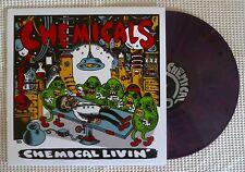 THE CHEMICALS Chemical Livin' Ltd. 450 Portland Punk Color Vinyl Screen Print LP