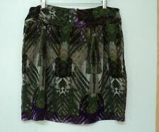 size 16 Worthington SKIRT purple green