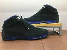 Air Jordan Retro XVIII 18 Black/Metallic Silver Noir